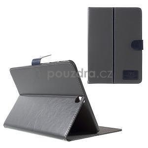 Flatense stylové pouzdro pro Samsung Galaxy Tab S2 9.7 - šedé - 1