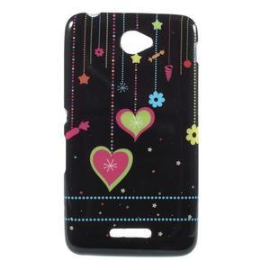 Gelový obal na Sony Xperia E4 - srdce - 1