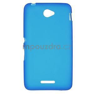 Gelový jednobarevný obal pro Sony Xperia E4 - modrý - 1