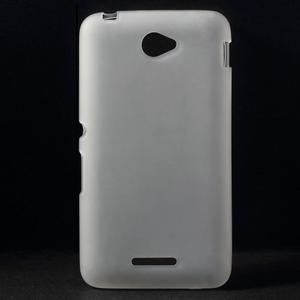Gelový jednobarevný obal pro Sony Xperia E4 - transparentní - 1
