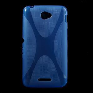 Gelový x-line obal na Sony Xperia E4 - modrý - 1