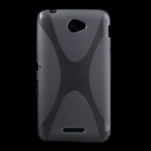 Gelový x-line obal na Sony Xperia E4 - šedý - 1