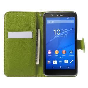 PU kožené lístkové pouzdro pro Sony Xperia E4 - hnědé - 1