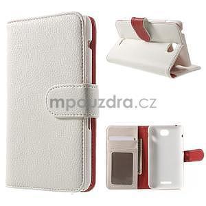 Koženkové pouzdro pro Sony Xperia E4 - bílé - 1