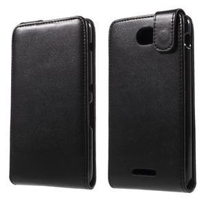 Flipové pouzdro na mobil Sony Xperia E4 - černé - 1