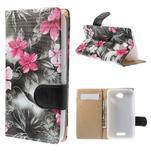 Peněženkové pouzdro na mobil Sony Xperia E4 - lilie v rozkvětu - 1/7