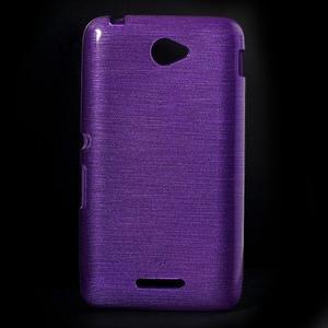 Broušený gelový obal pro Sony Xperia E4 - fialový - 1