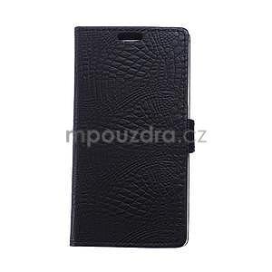 Pouzdro s krokodýlím vzorem na Sony Xperia E4 - černé - 1