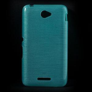 Broušený gelový obal pro Sony Xperia E4 - tyrkysový - 1