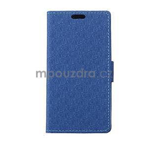 Vzorované pěněženkové pouzdro na Sony Xperia E4 - modré - 1