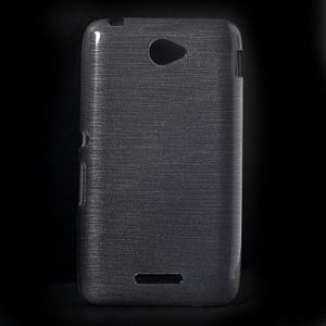 Broušený gelový obal pro Sony Xperia E4 - transparentní - 1