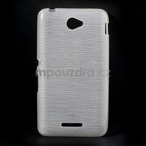 Broušený gelový obal pro Sony Xperia E4 - bílý - 1