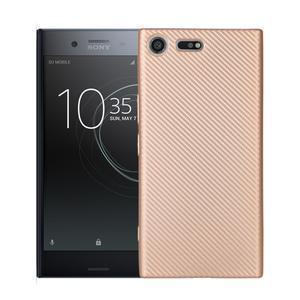 Fiber gelový obal na Sony Xperia XZ Premium - zlatý - 1