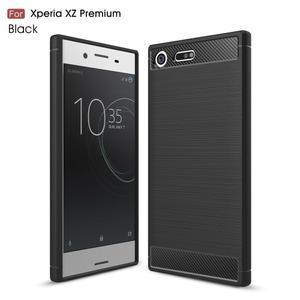 Carbon odolný gelový obal na mobil Sony Xperia XZ Premium - černý - 1