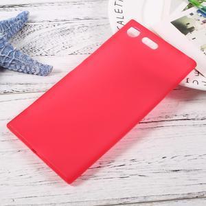 Matný gelový obal na mobil Sony Xperia XZ Premium - červený - 1