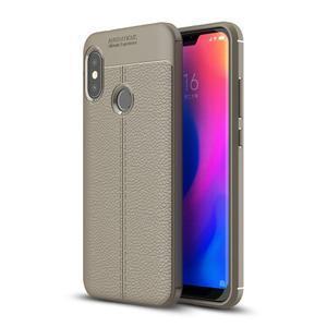 Litch silikonový odolný obal s texturou na mobil Xiaomi Mi A2 Lite - šedý - 1