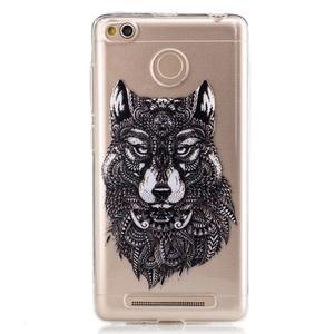 Emotive gelový obal na mobil Xiaomi Redmi 3S - vlk - 1