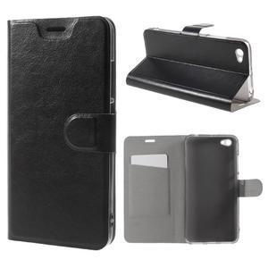 Horse PU kožené pouzdro na Xiaomi Redmi Note 5A - černé - 1