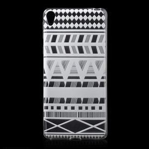 Ultratenký gelový obal na Sony Xperia E5 - geo tvary - 1