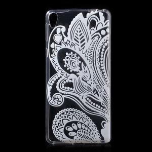 Ultratenký gelový obal na Sony Xperia E5 - květina - 1
