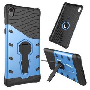 Armory odolný obal se stojánkem na Sony Xperia E5 - modrý - 1