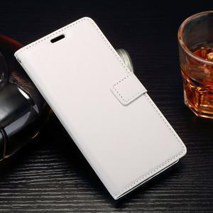 Horss PU kožené pouzdro na Sony Xperia E5 - bílé - 1