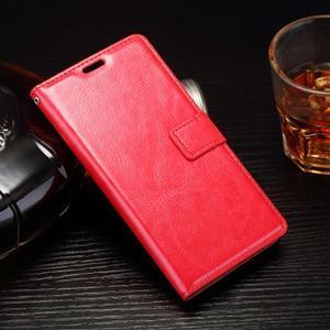 Horss PU kožené pouzdro na Sony Xperia E5 - červené - 1