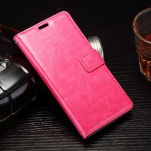 Horss PU kožené pouzdro na Sony Xperia E5 - rose - 1