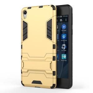 Outdoor odolný obal na mobil Sony Xperia E5 - zlatý - 1