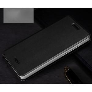 Vintage PU kožené pouzdro na mobil Xiaomi Mi4c - černé - 1