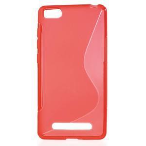 S-line gelový obal na mobil Xiaomi Mi4c/Mi4i - červený - 1