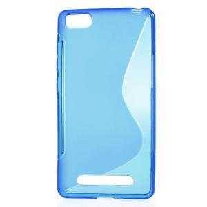 S-line gelový obal na mobil Xiaomi Mi4c/Mi4i - modrý - 1