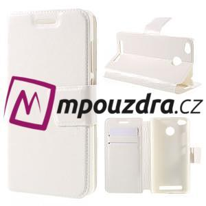 Horn PU kožené pouzdro na Xiaomi Redmi 3 Pro - bílé - 1