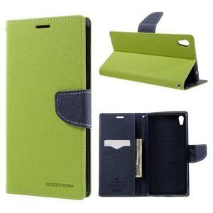 Diary PU kožené pouzdro na mobil Sony Xperia XA Ultra - zelené - 1