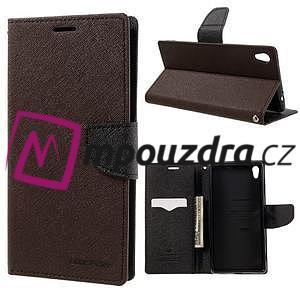 Diary PU kožené pouzdro na mobil Sony Xperia XA Ultra - hnědé - 1