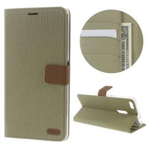 Diary peněženkové pouzdro na mobil Asus Zenfone 3 Ultra - khaki - 1