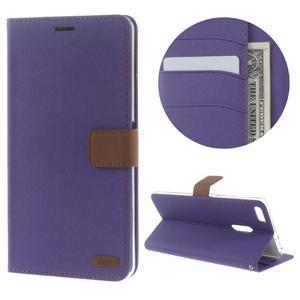 Diary peněženkové pouzdro na mobil Asus Zenfone 3 Ultra - fialové - 1
