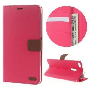 Diary peněženkové pouzdro na mobil Asus Zenfone 3 Ultra - rose - 1