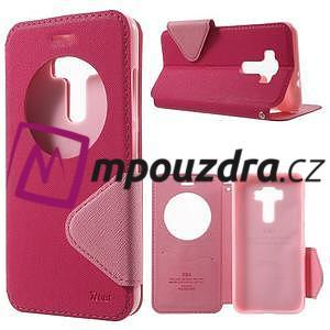 Diary pouzdro s okýnkem na mobil Asus Zenfone 3 ZE520KL - rose - 1