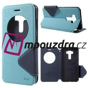 Diary pouzdro s okýnkem na mobil Asus Zenfone 3 ZE520KL - světlemodré - 1
