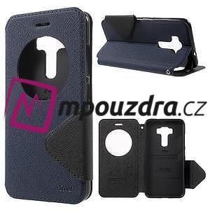 Diary pouzdro s okýnkem na mobil Asus Zenfone 3 ZE520KL - tmavěmodré - 1