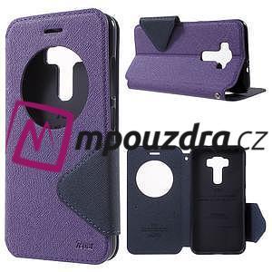 Diary pouzdro s okýnkem na mobil Asus Zenfone 3 ZE520KL - fialové - 1