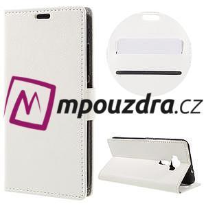 Leathy peněženkové pouzdro na Asus Zenfone 3 ZE520KL - bílé - 1