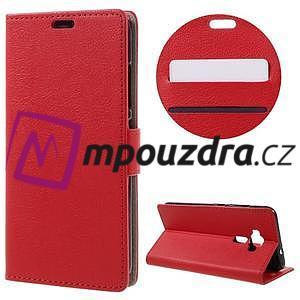Leathy peněženkové pouzdro na Asus Zenfone 3 ZE520KL - červené - 1