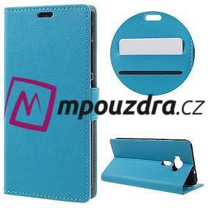 Leathy peněženkové pouzdro na Asus Zenfone 3 ZE520KL - světlemodré - 1