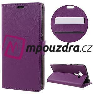 Leathy peněženkové pouzdro na Asus Zenfone 3 ZE520KL - fialové - 1