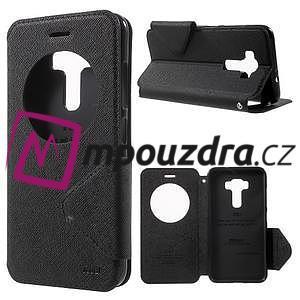 Diary pouzdro s okýnkem na mobil Asus Zenfone 3 ZE520KL - černé - 1