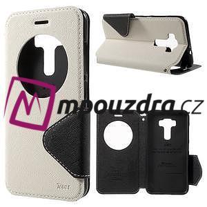 Diary pouzdro s okýnkem na mobil Asus Zenfone 3 ZE520KL - bílé - 1