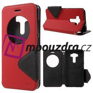 Diary pouzdro s okýnkem na mobil Asus Zenfone 3 ZE520KL - červené - 1
