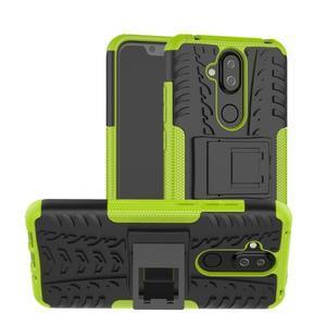 Kick odolný hybridní obal na Nokia 8.1 - zelený - 1